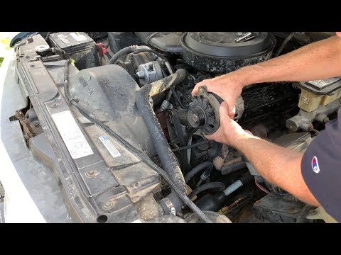 How To Replace The Alternator On A Chevrolet 5.7 V8 350 Engine
