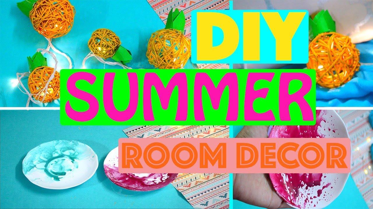DIY Summer Room Decor 2018 | Bright And Colourful | DIYmond DIY