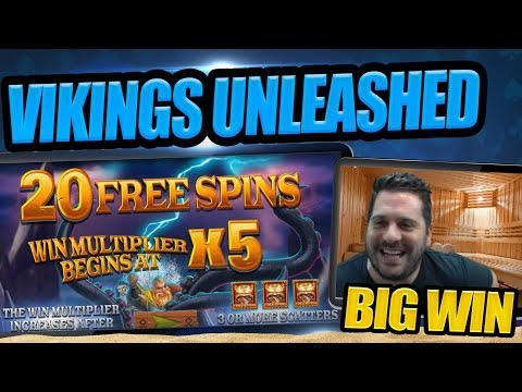 VIKINGS UNLEASHED STREAKING SLOT WIN!! MERRY CHRISTMAS ALL!