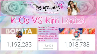 Kenia Os VS Kimberly Loaiza (Kim Loaiza llega al 1M, Kim Loaiza en menos de 5 dias supera a K-Os)