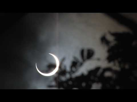 Annular solar eclipse from the Maldives
