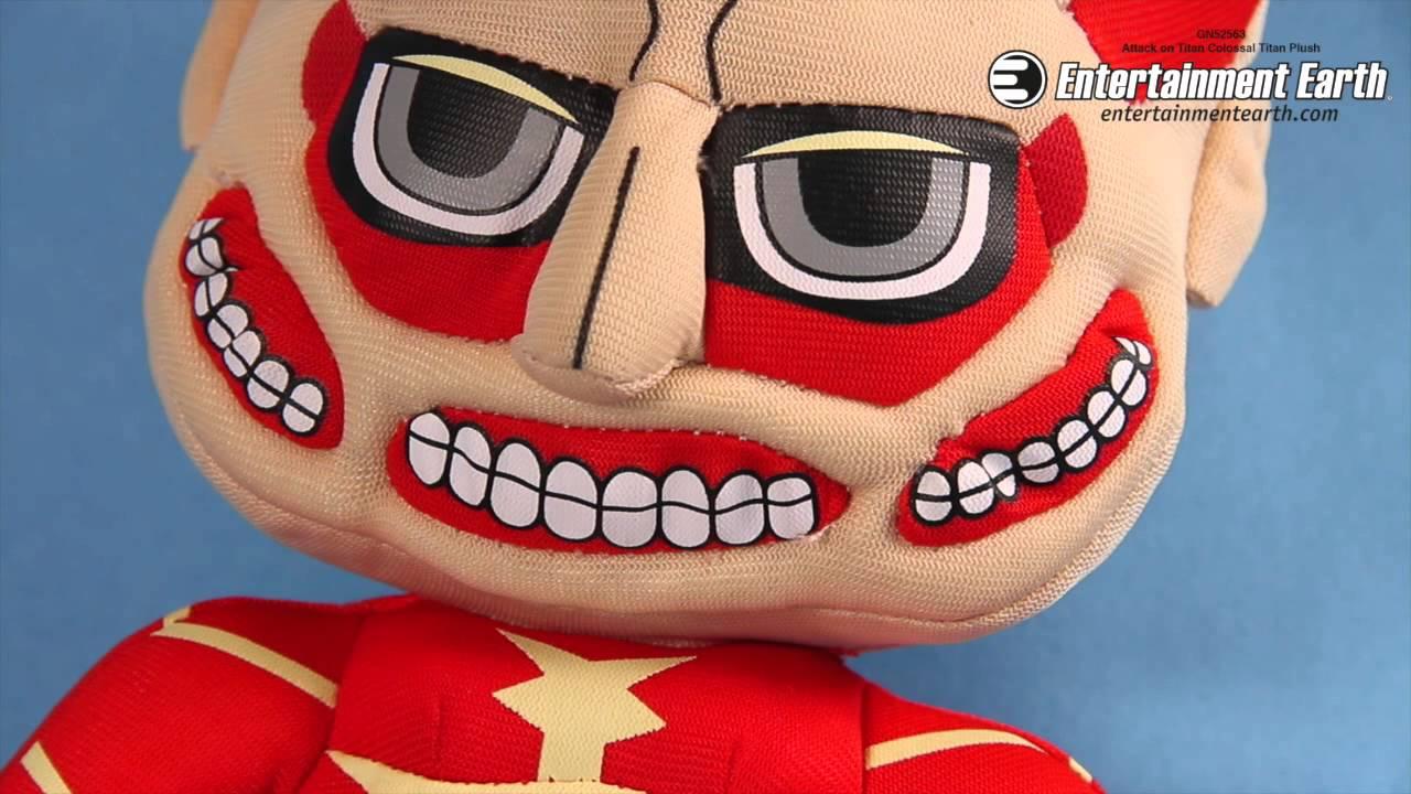 """Attack on Titan Colossal Titan Plush Doll 8/"""" New"""