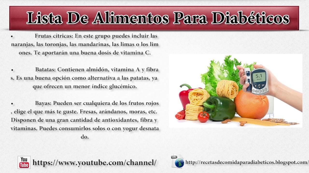 Lista De Alimentos Para Diabticos  YouTube