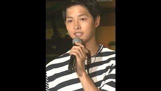 160716 송중기 상해 팬미팅 눈물 글썽이며 마지막 편지낭독 - Song Joong Ki Shanghai Fan-meeting Reading Letter