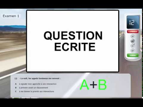 test type examen 2018 du code de la route s rie 9 questions 1 20 youtube. Black Bedroom Furniture Sets. Home Design Ideas