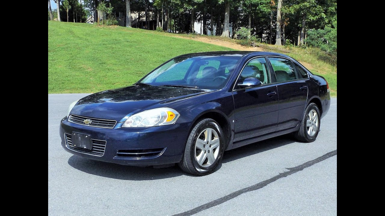 2007 chevy impala ls v6 start up review full tour and test drive youtube