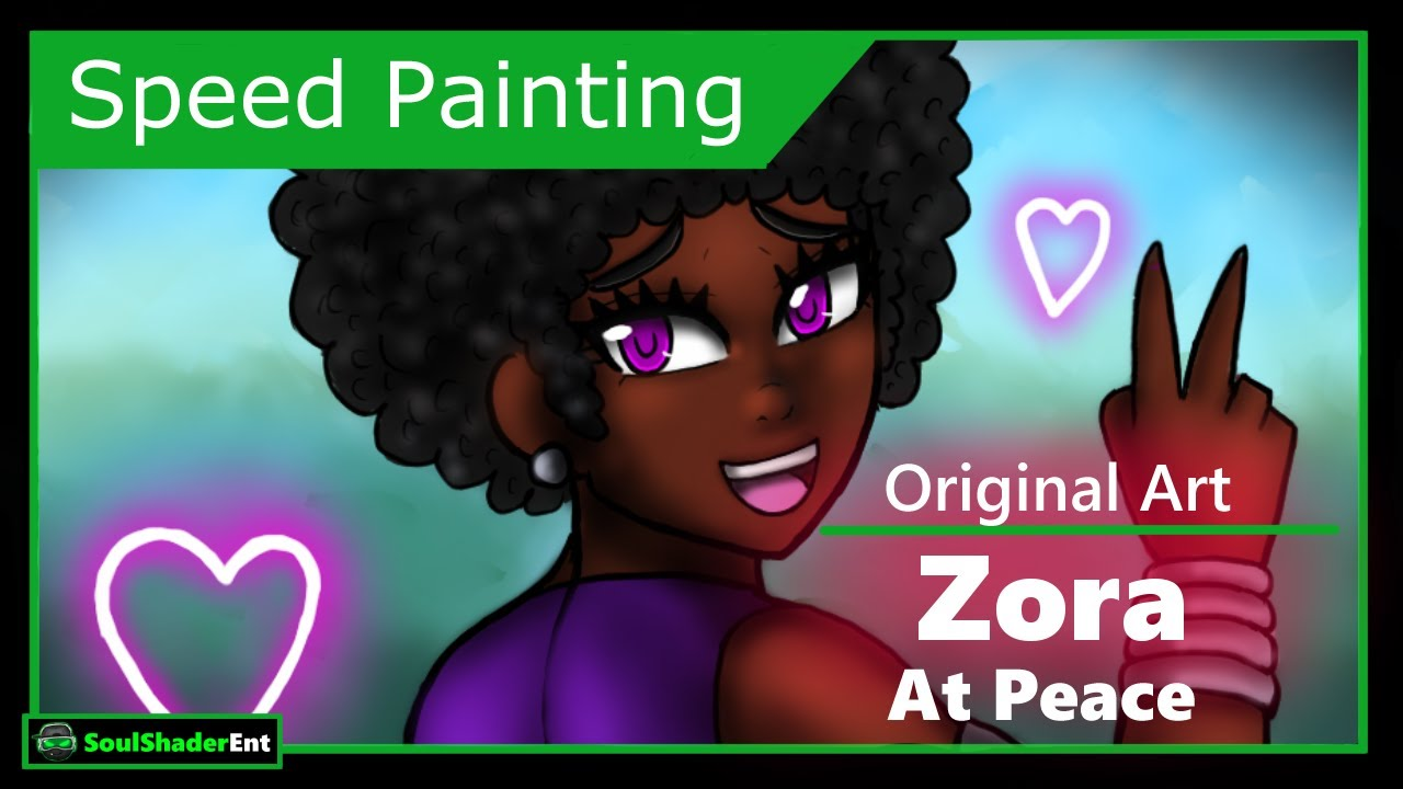 ❇️Zora at Peace Speed Drawing
