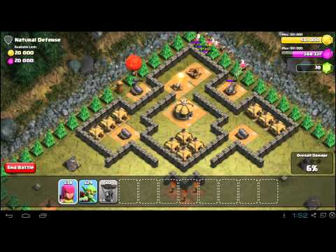 Clash of Clans Natural Defense Strategy Guide - Town Hall 5 - 3 Stars