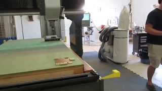 Gretchen, our Haas GR-712 CNC router is put through her paces