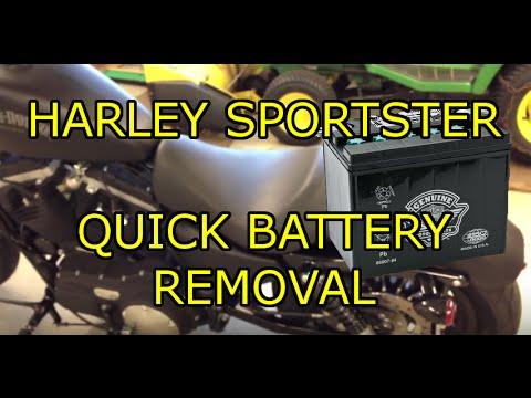Harley Davidson Sportster  Battery Removal