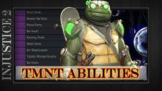 Injustice 2 | ALL TMNT UNLOCKABLE ABILITIES | Teenage Mutant Ninja Turtles |