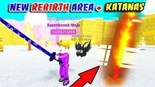 UNLOCKED NEW REBIRTH AREA UPDATE & NEW REBIRTH KATANA SWORDS In NINJA MASTERS!! (Roblox)