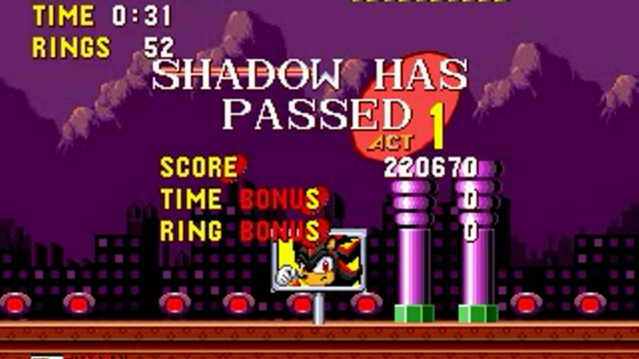 Shadow in Sonic the Hedgehog (Genesis) – Longplay [60 FPS]