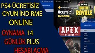 PS4 ÜCRETSİZ OYUN İNDİRME ONLİNE OYNAMA BEDAVA PSN PLUS HESABI AÇMA / 2019