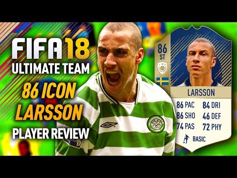 FIFA 18 HENRIK LARSSON (86) *ICON* PLAYER REVIEW! FIFA 18 ULTIMATE TEAM!