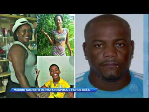 Marido foragido é suspeito de assassinato da mulher e dos dois filhos