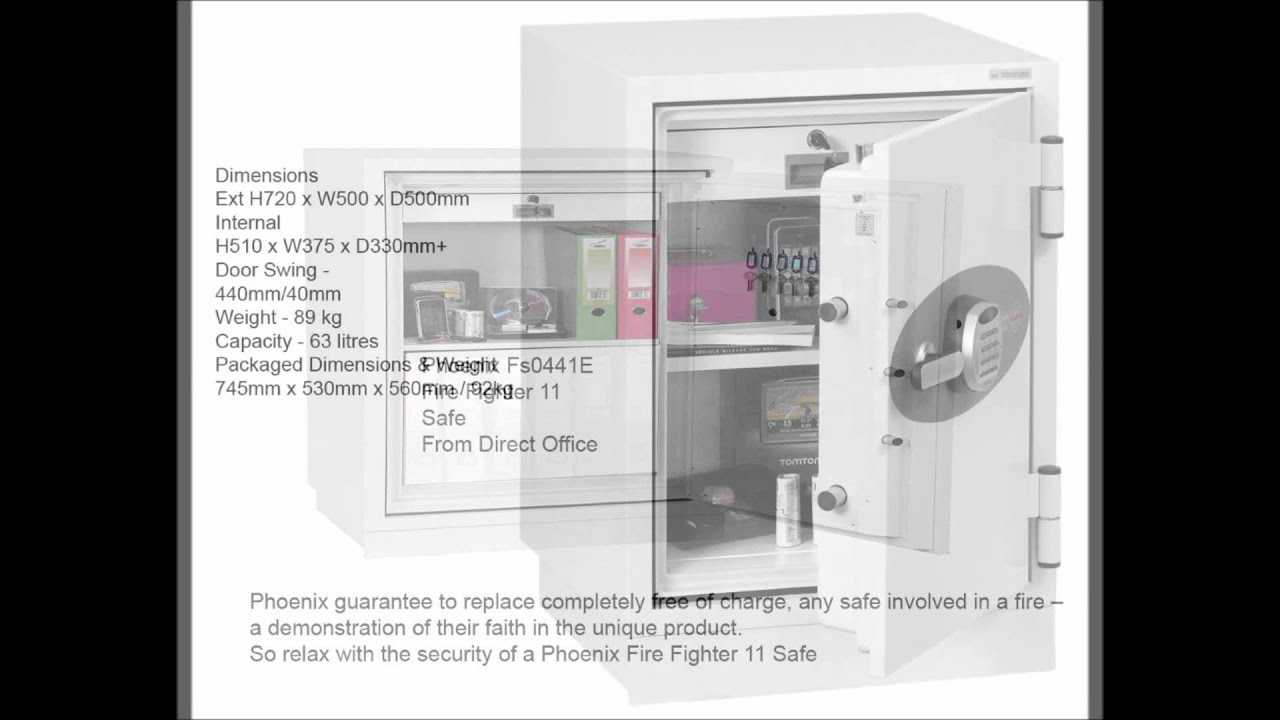 Phoenix Fs0441e Safe Fire Fighter 11 From Direct Office Supply