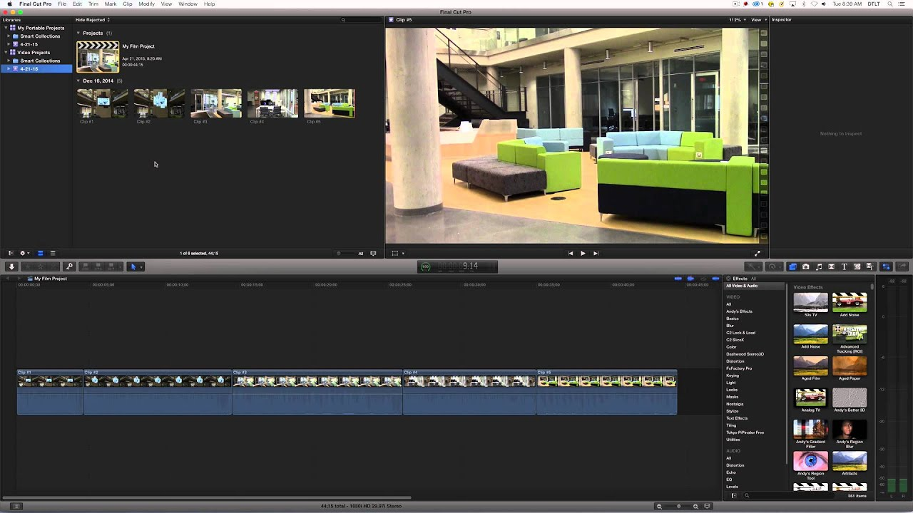 Moving Final Cut Pro X Projects to an External Hard Drive