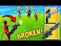 *NEW* MINIGUN BUFF IS SUPER OP! - Fortnite Funny Fails and WTF Moments! #443