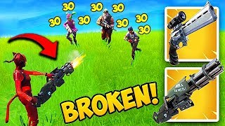 THE MINIGUN *BUFF* IS SUPER OP! - Fortnite Funny Fails and WTF Moments! #443