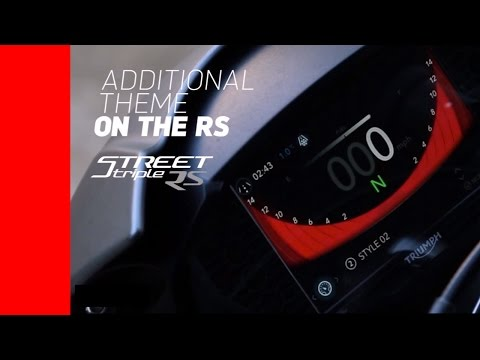 2017 Triumph Street Triple R and RS Full Color 5 Inch TFT Instrument Cluster - 동영상