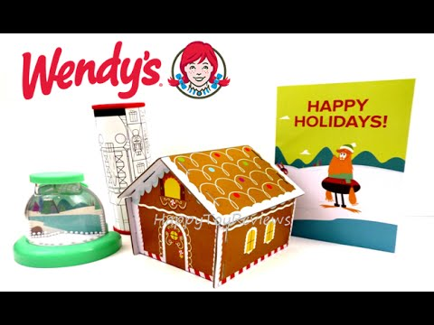 2015 WENDY'S CRAFT A HAPPY HOLIDAY COMPLETE SET OF 4 KIDS MEAL ...