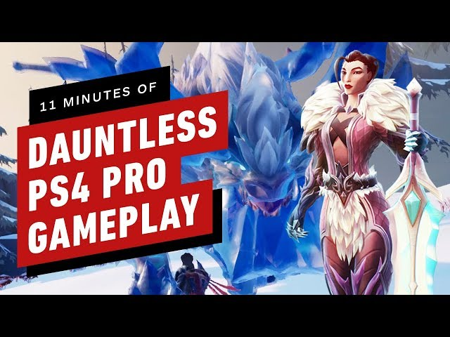 11 Minutes of Dauntless PS4 Pro Gameplay
