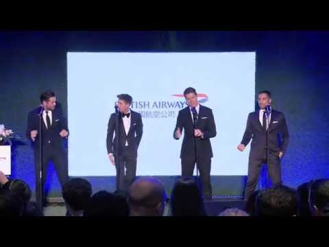 Jack Pack swing the stage at British Airways garden party in Shanghai