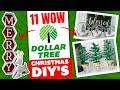 11 Dollar Tree WOW Christmas DIY's 🎄 Christmas Decorating Ideas