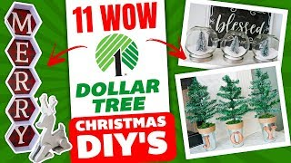 Download 11 Dollar Tree WOW Christmas DIY's 🎄 Christmas Decorating Ideas Mp3 and Videos