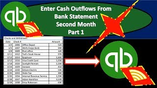 QuickBooks Online 2019-Enter Cash Outflows From Bank Statement Second Month
