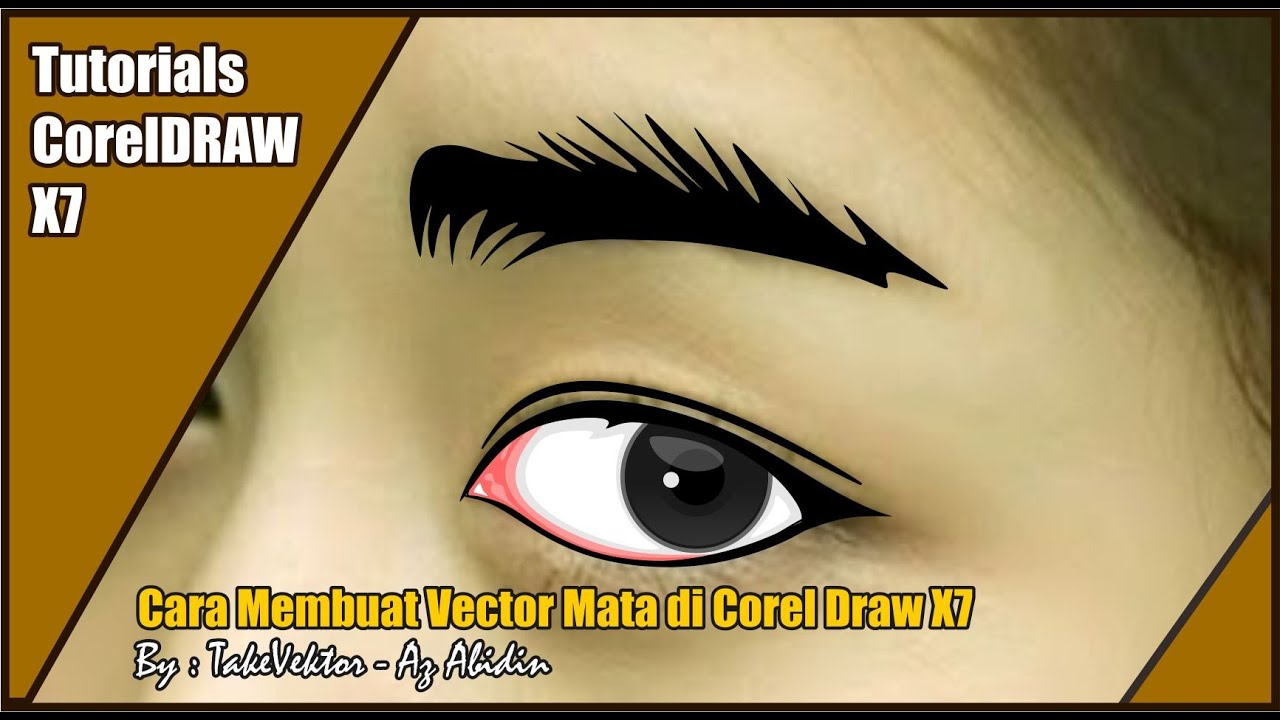 Cara Membuat Vector Mata Di Corel Draw By Takevektor Youtube