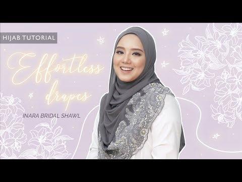 Effortless Drapes Bridal hijab tutorial using Inara Bridal Soulmate