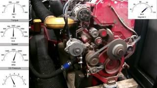 Двигатель Volvo ISX15 475 VNL обкатка на стенде
