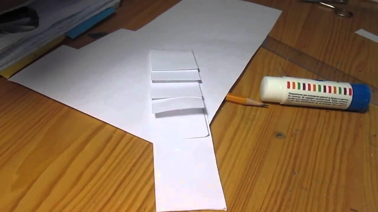 Как делать водопад из бумаги? - YouTube