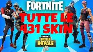 TODAS AS 431 SKINS FORTNITE DA 1ª TEMPORADA