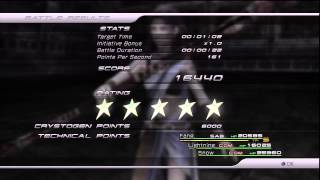 Final Fantasy XIII - Mission 24 - Stage 10 primary roles - 5 Star Strategy