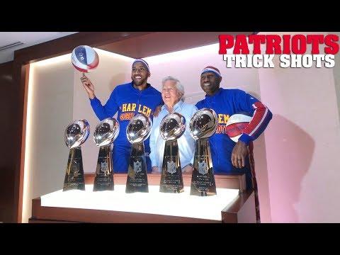 Chuck Nowlin - Harlem Globetrotters Making Crazy Shots At Gillette Stadium