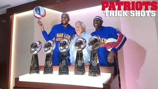 Trick Shots with the New England Patriots | Harlem Globetrotters