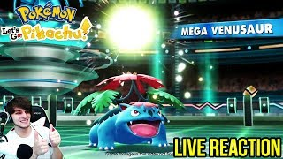 MEGA POKEMON ARE BACK! LIVE REACTION to Picking Pikachu or Eevee Is Only the Beginning!