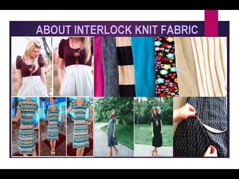 Learn how to stitch interlock knit fabric by tailors online?