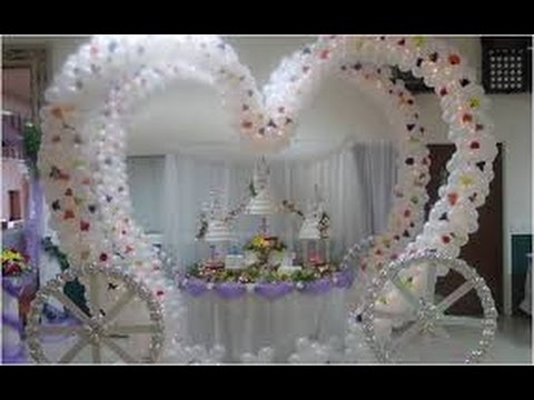 Decoracion con globos para bodas youtube for Adornos para pieza de bebe