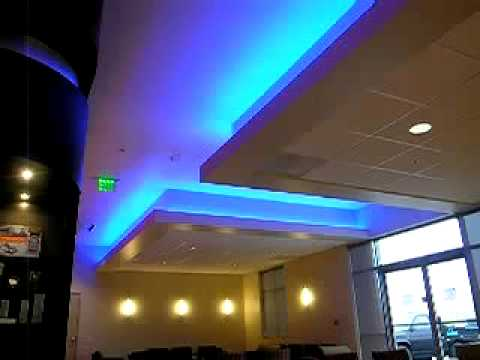 Rgb Flexible Led Strip Lights For Ceiling Backlight Lighting Youtube