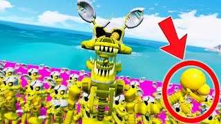 GOLDEN NIGHTMARE MANGLE ARMY IS HERE! (GTA 5 Mods For Kids FNAF Funny Moments)