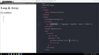 WEB2 JavaScript - 22.배열과 반복문