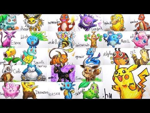 видео: Все Покемоны / Как рисовать Коллекцию Покемонов / Урок рисования