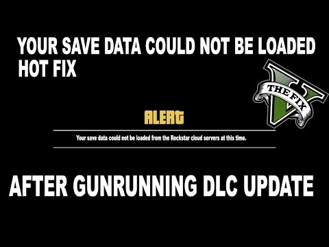 Gta 5 - How To Fix your save data could not be loaded from the Rockstar cloud servers at this time.