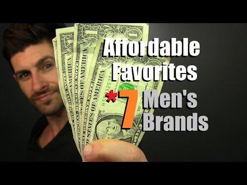 7 Affordable Men's Brands That Won't Break The Bank | Affordable Favorites And Bargain Brands