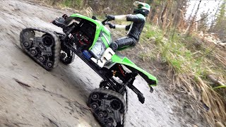 ATV TRX4 TRACKS on MUD MOUNTAiN w/ WiNCH ACTION! Forestry Trail Run | RC ADVENTURES