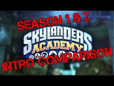 Skylanders Academy Season 1 & 2 Intro Comparison